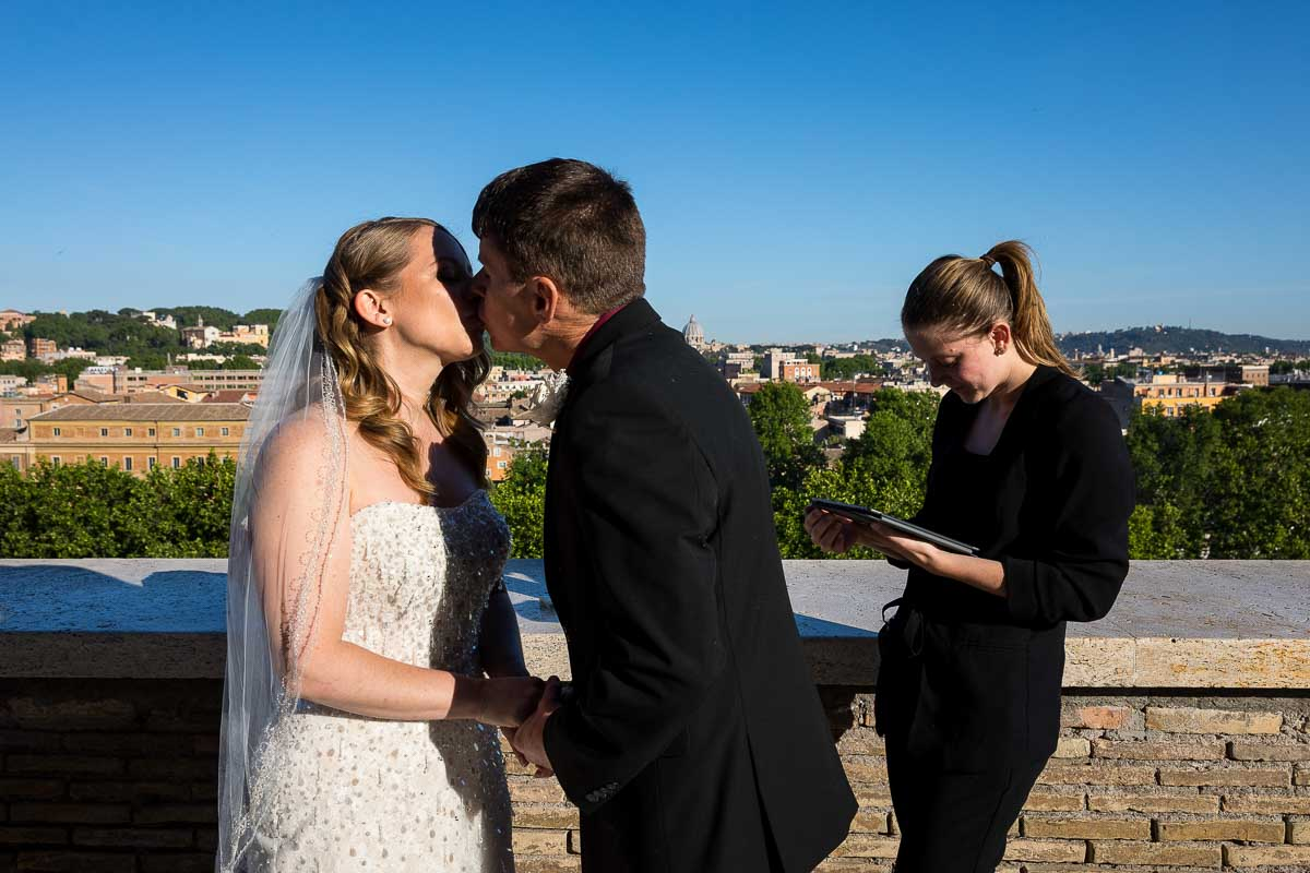 You may now kiss the bride. Just married in the eternal city of Rome Italy