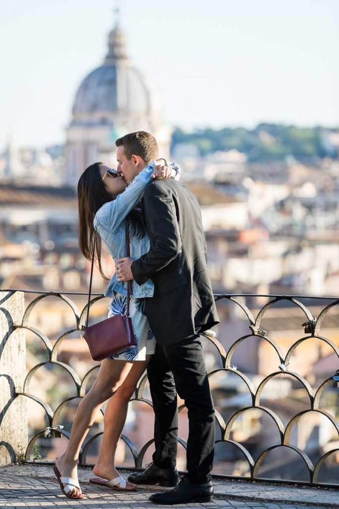 She said yes image. Just engaged in the city of Rome