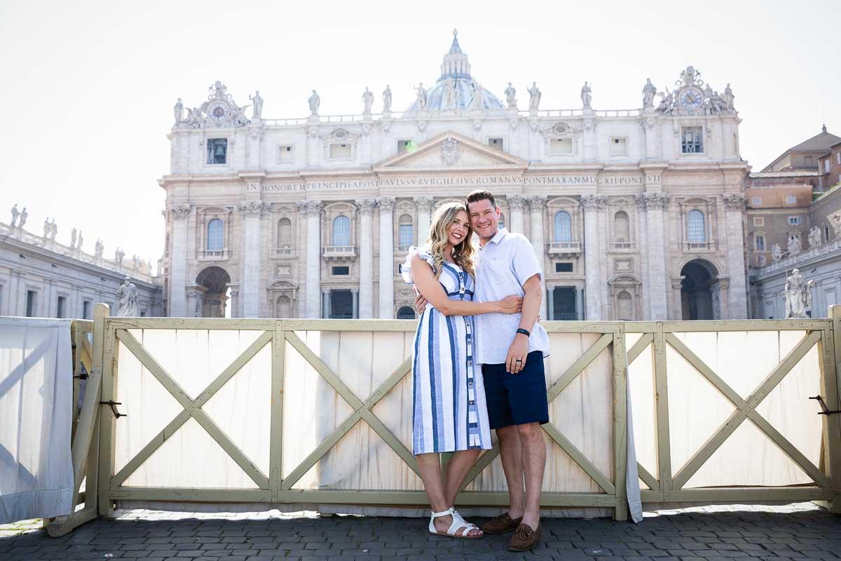 Posing underneath Saint Peter Basilica