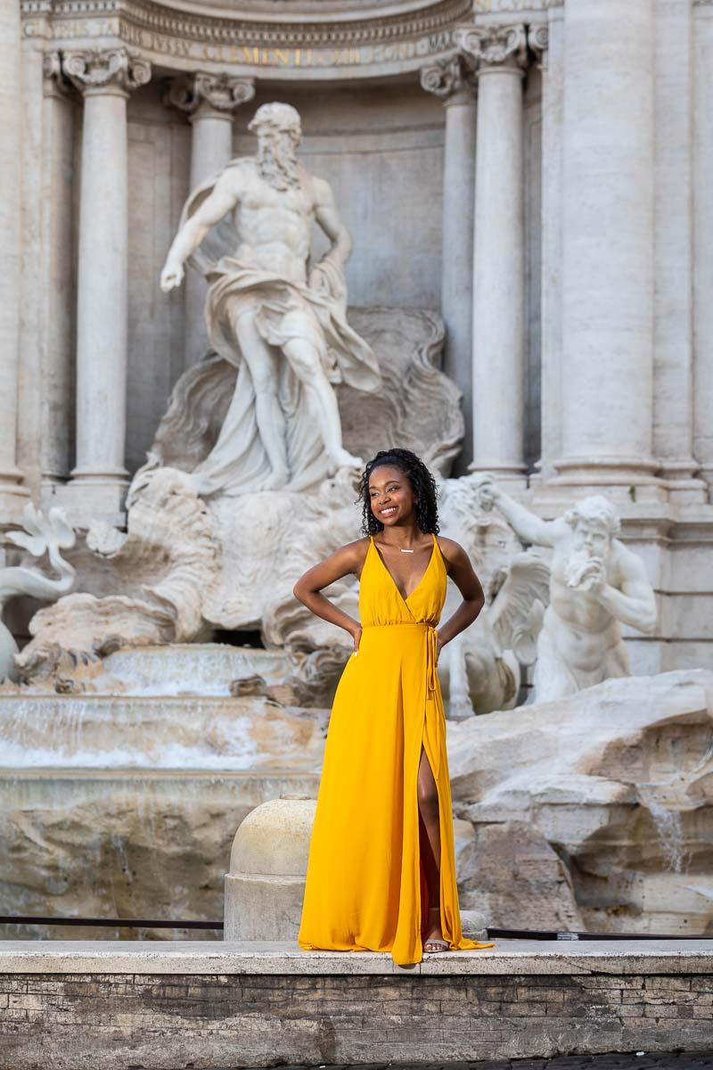 Sweet sixteen portrait pose fontana di trevi roma