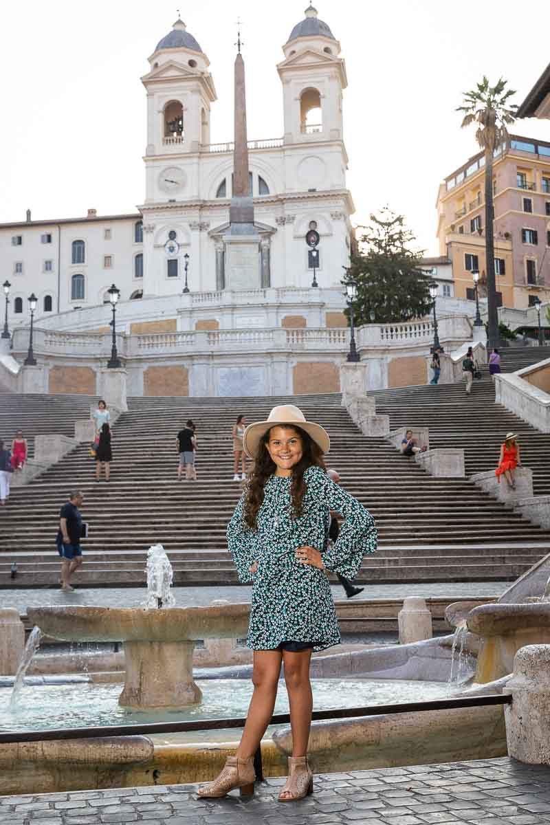 Posed portrait at the bottom of the Spanish steps