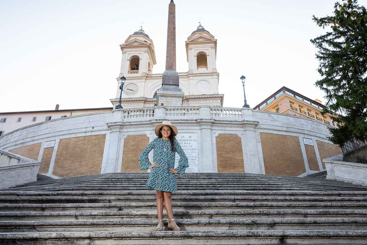 Standing on top of the Spanish steps