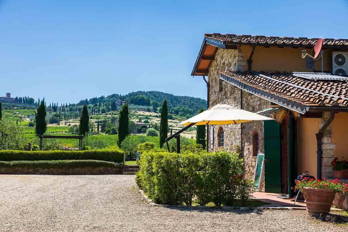 Il Viticcio winery farmhouse