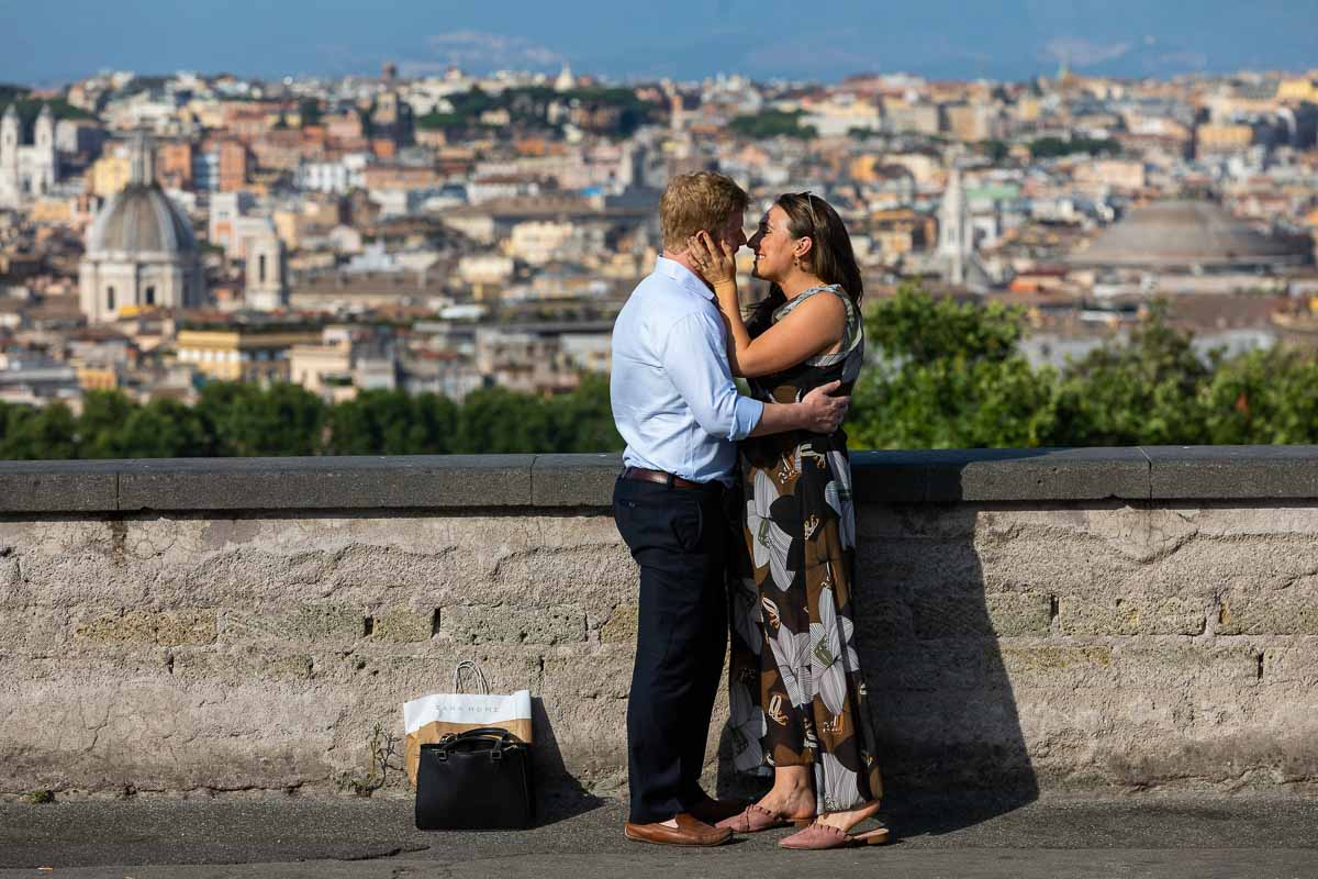 In love in Rome proposal photography session