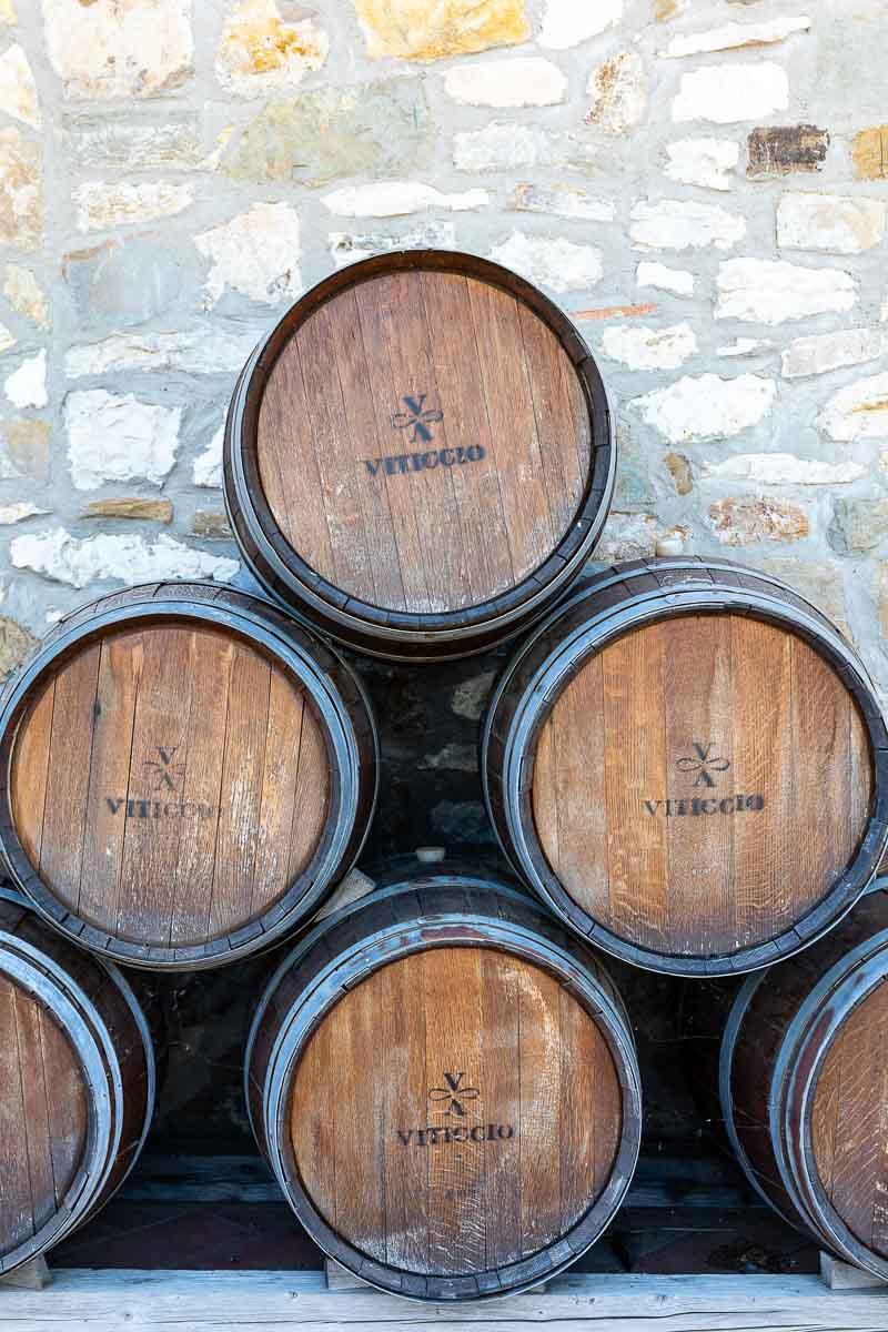 Il Vitticcio wine barrels