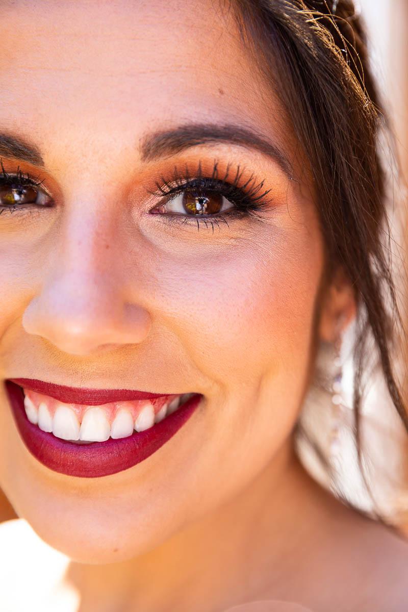 Bridal portrait close up