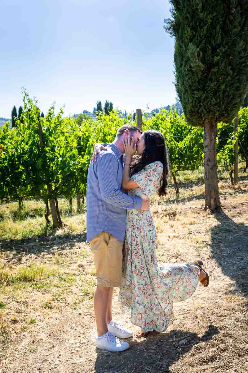 Kissing in Tuscany