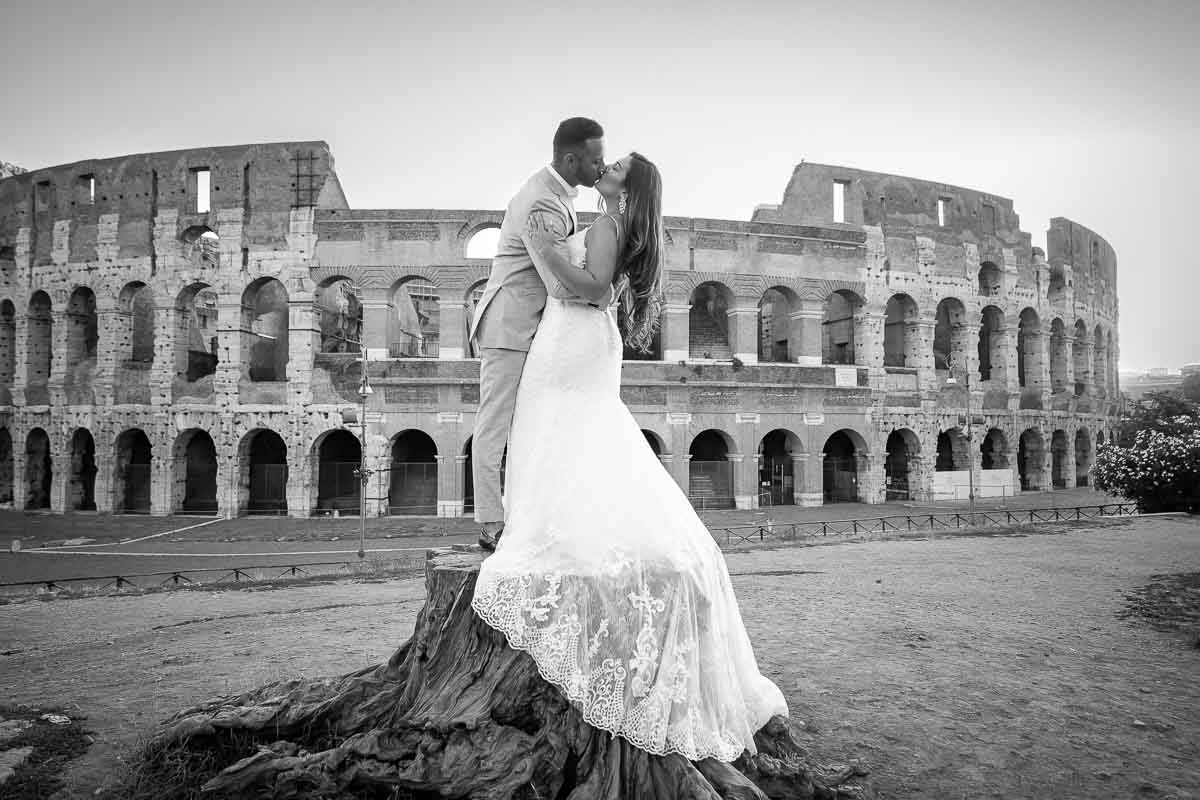 Black and white wedding photography conversion