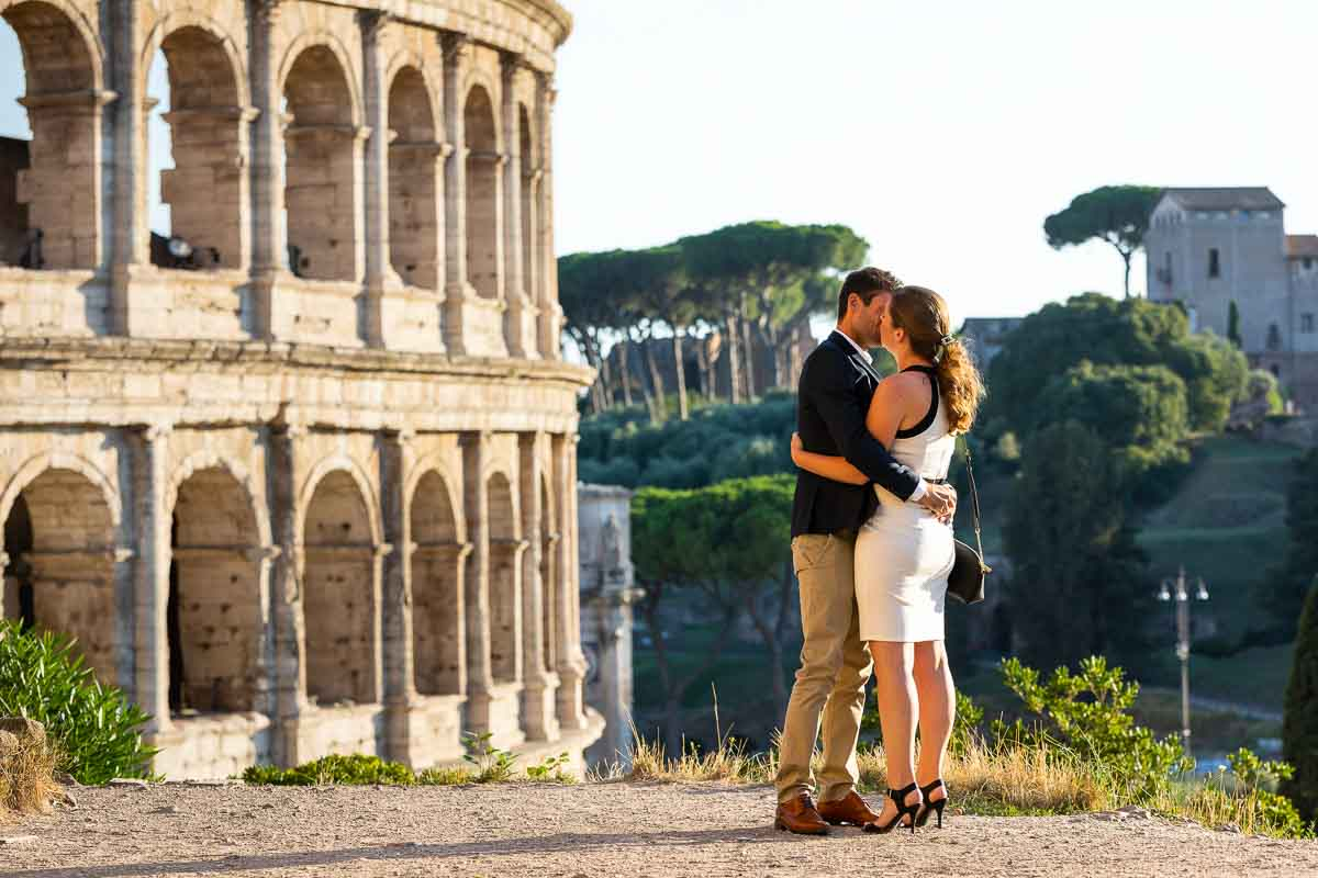Just engaged at the Roman Coliseum