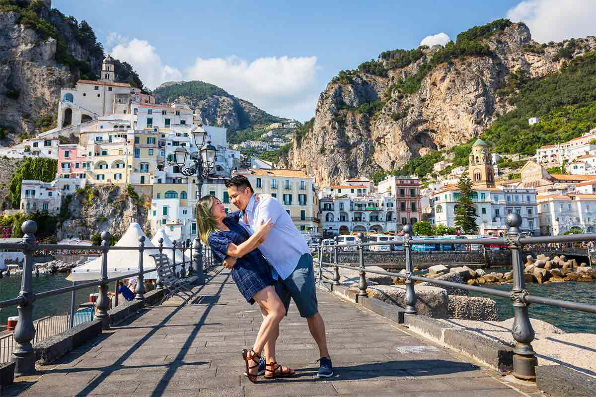 Fun and Romantic Positano Vacation Photographer session photographed on the beautiful Amalfi Coast in Italy
