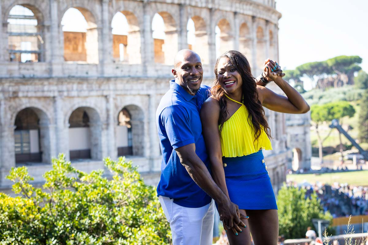 Taking pictures together in Rome Italy