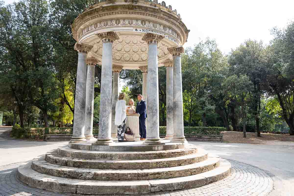 Temple of Diana where the Rome Elopement Wedding took place