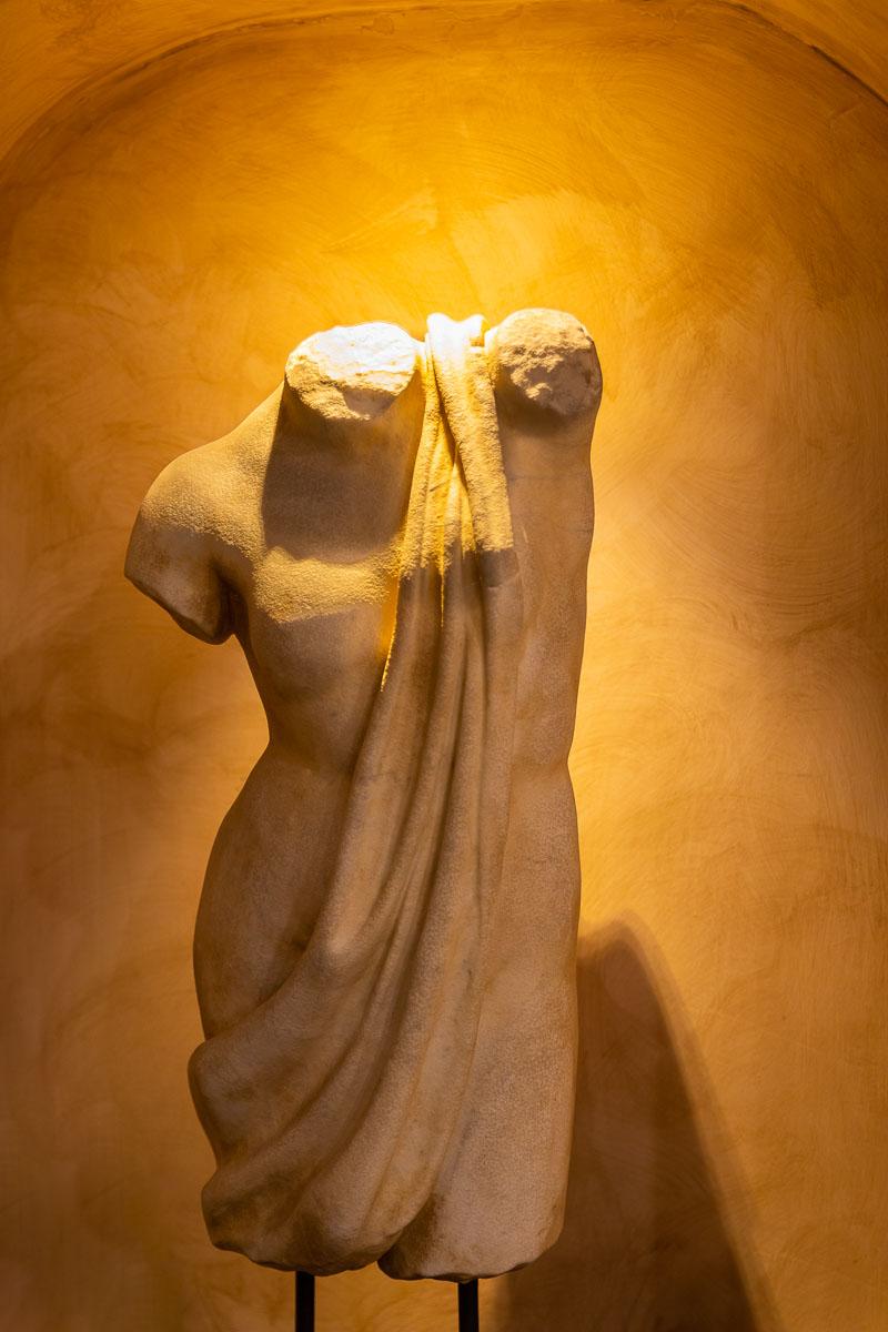 Bust portrait of a roman statue