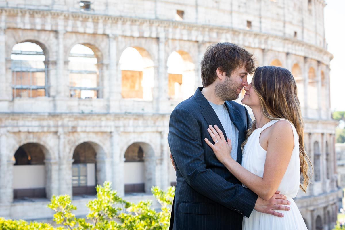 Bride and groom photography posed image at the Colosseum