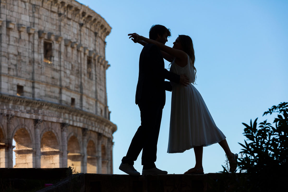 Italy Rome Photoshoot silhouette artistic photography at the Coliseum