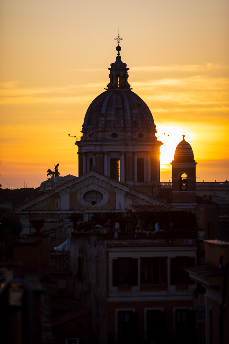 Sun set in Rome during a photography session