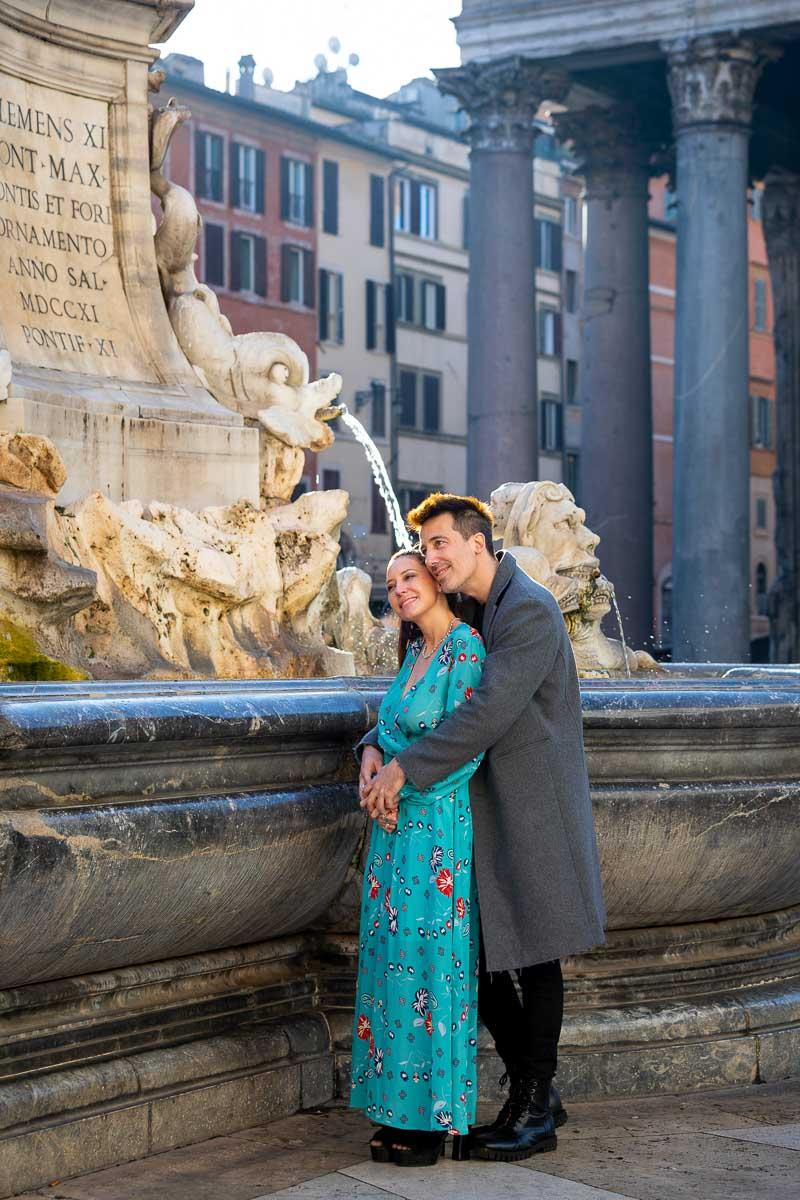 Couple portrait photoshoot at the Roman Pantheon