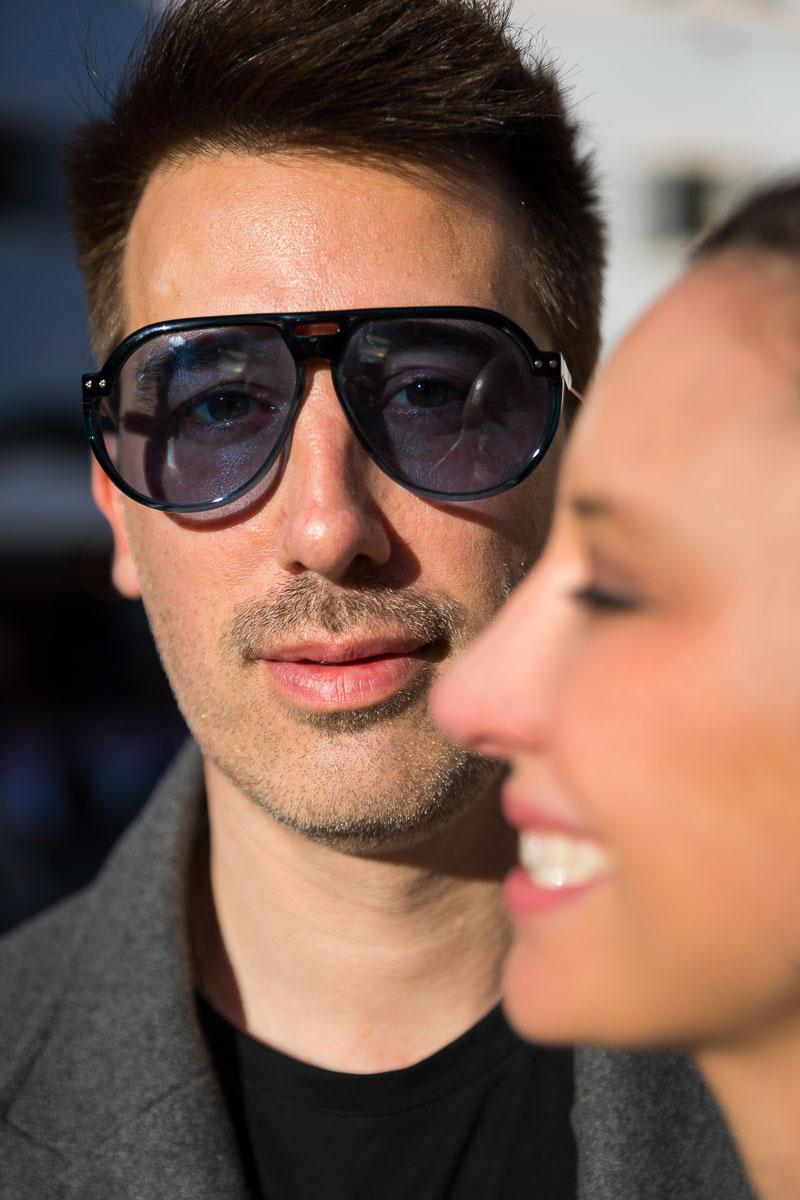 Photographic facial couple portrait