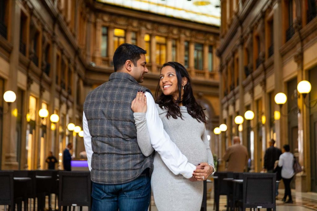 Indoor Rome maternity family photoshoot