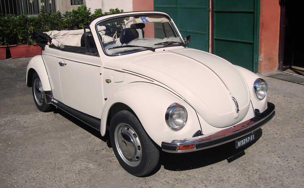 Classic Vintage Volkswagen Beetle Bug Convertible car