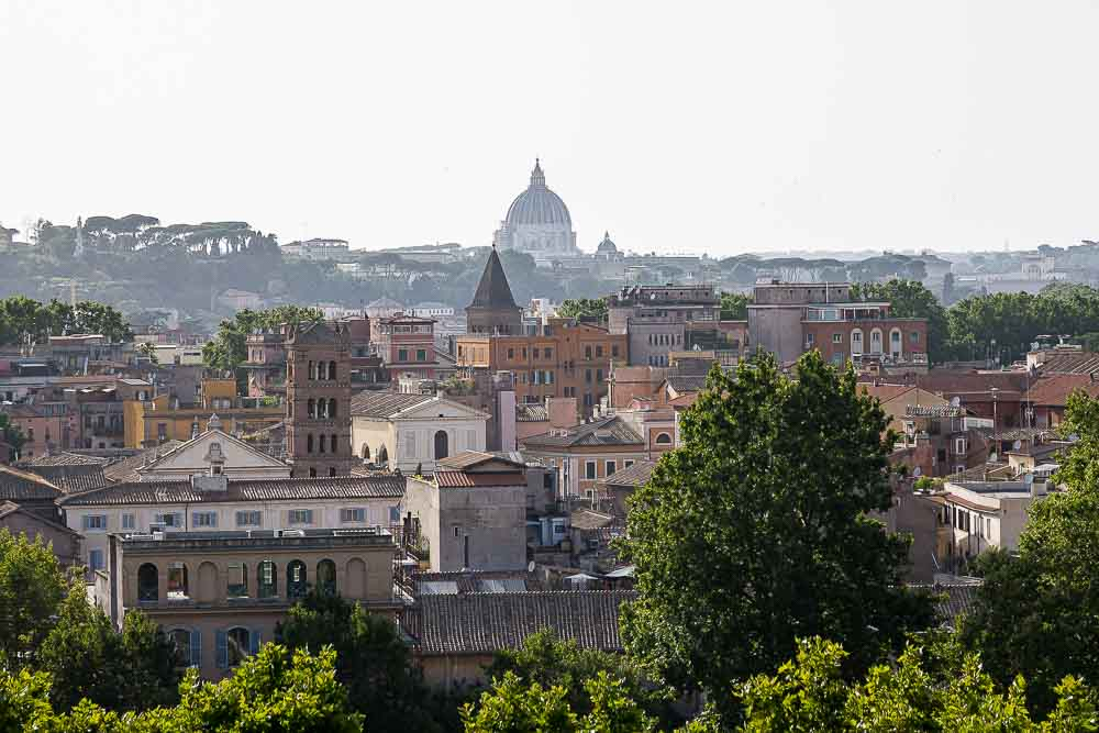 The Roman skyline with Saint Peter's cathedral in the center of the image