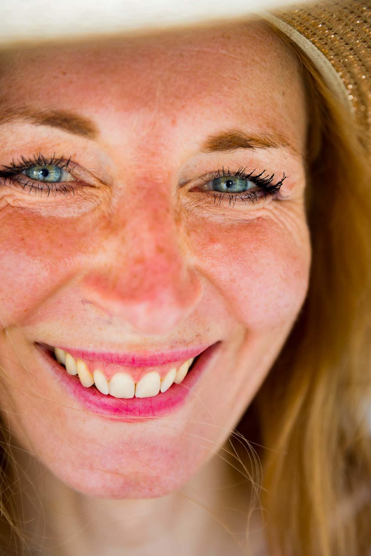 Smiling image portrait close up