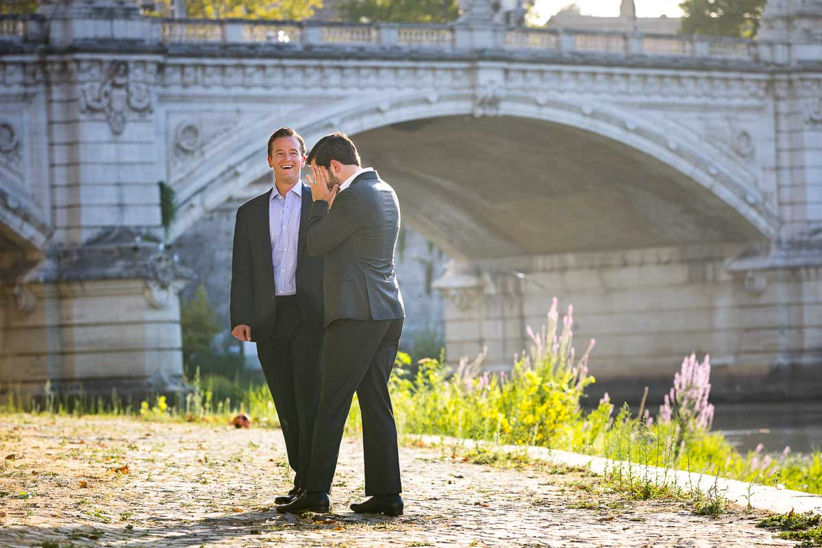 Coupe photo shoot next to the Tiber river