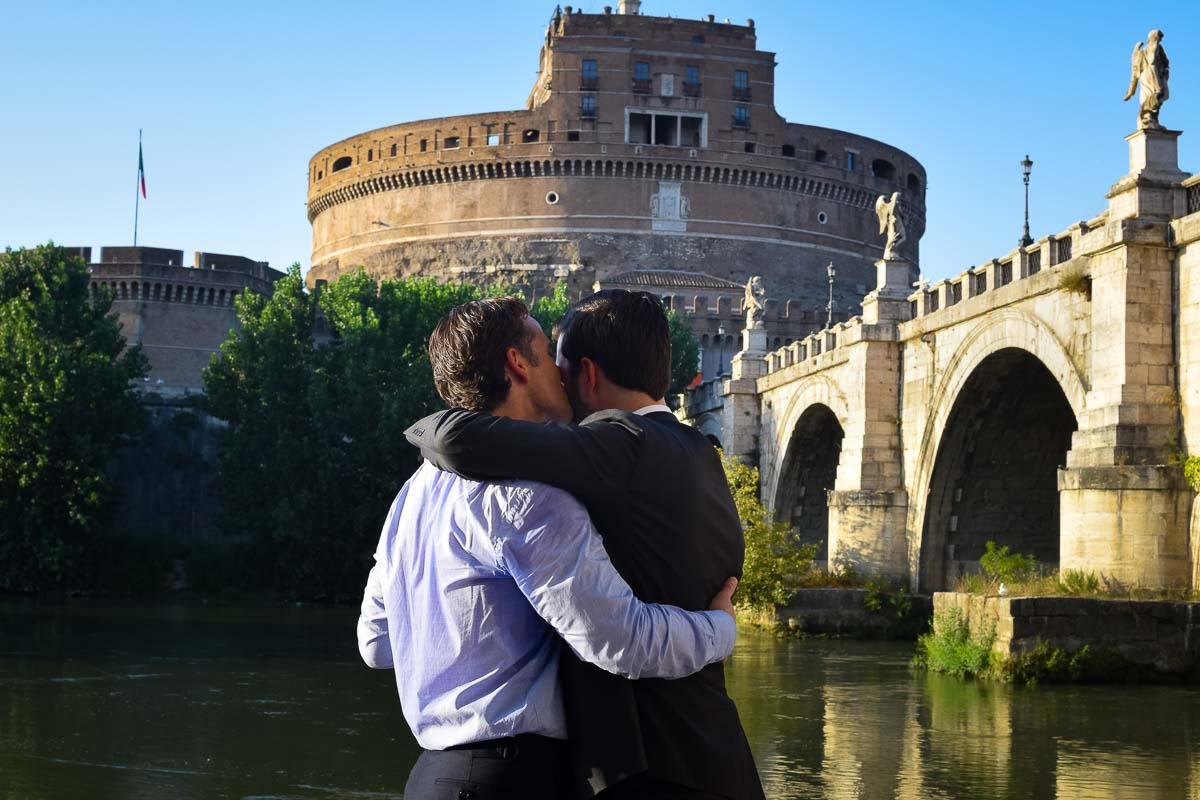 Together and in love in Rome
