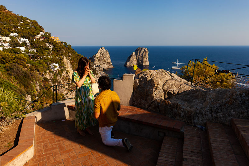 Knee down Capri Surprise Proposal in Italy photography