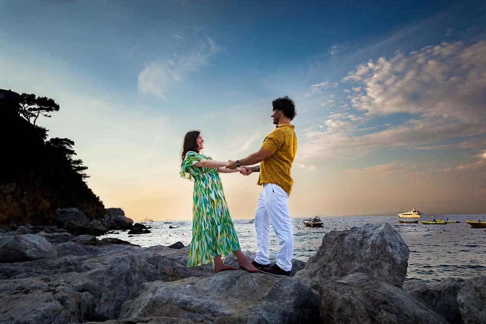 Couple photoshoot on the island of Capri Italy