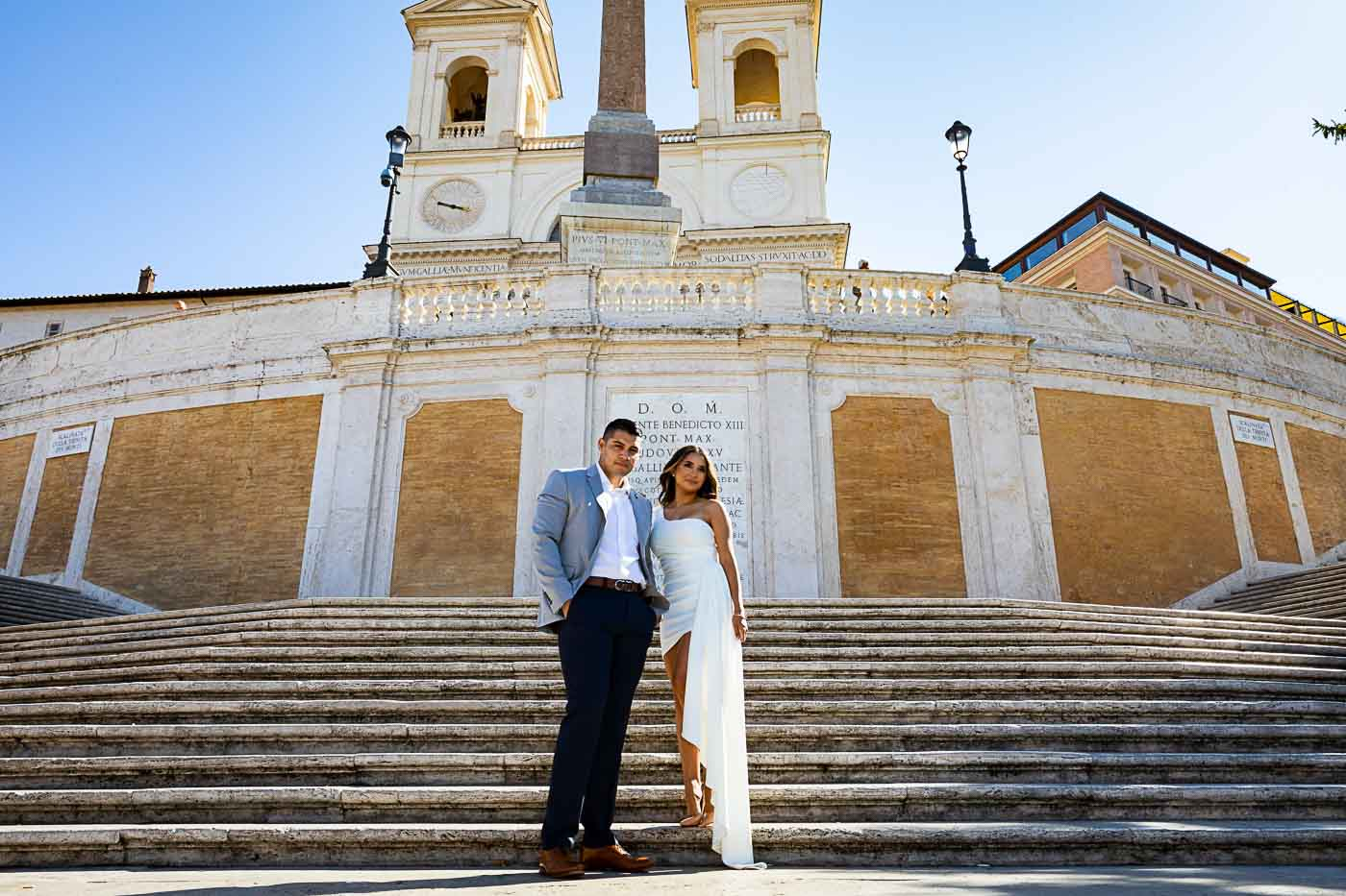 Portrait picture taken on the steps of the Spanish steps