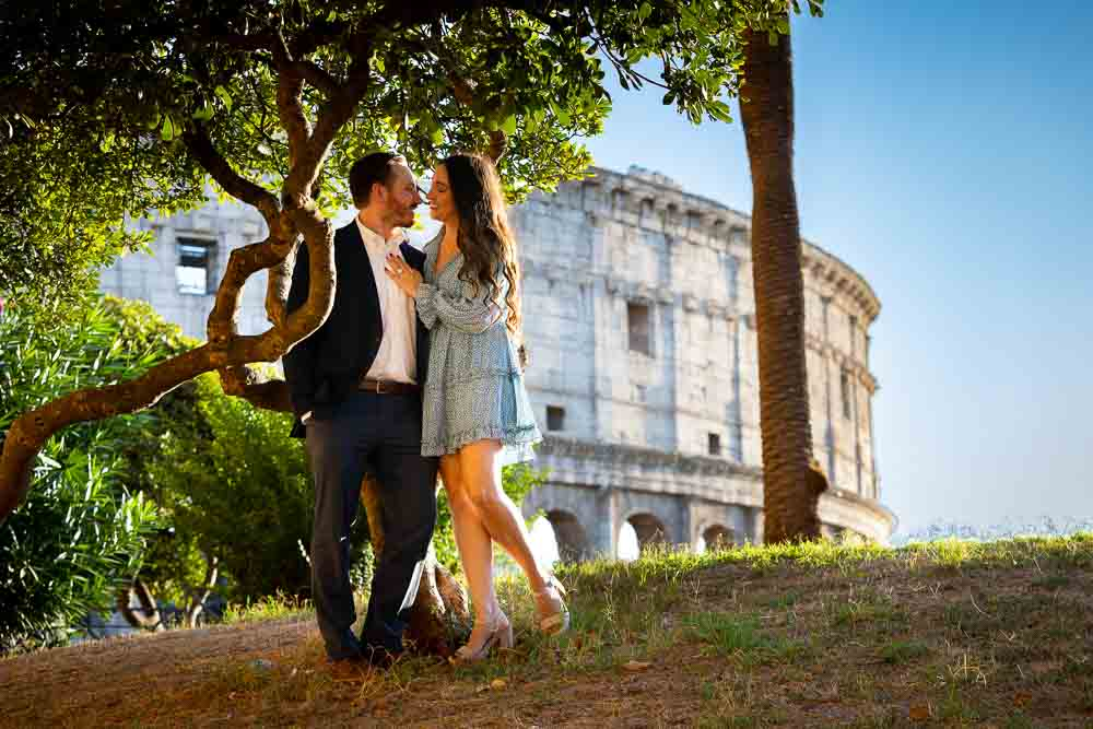Engaged at the Colosseum